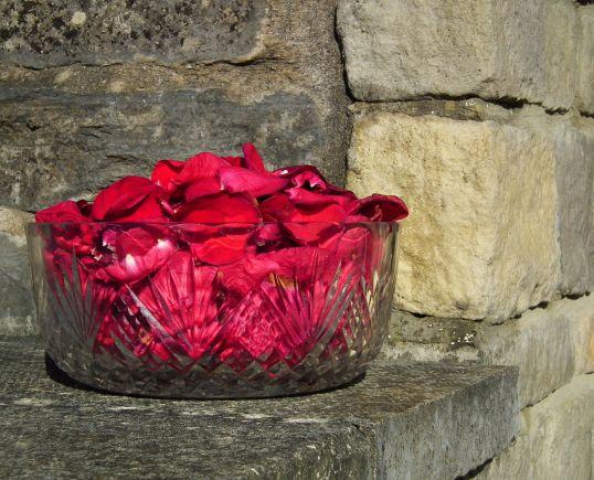 rose petals dish